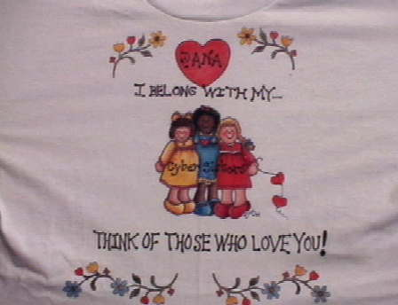 front of a tee shirt